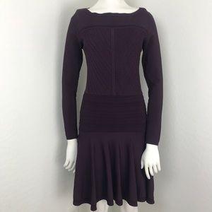 Diane VonFurstenberg Purple Delta Drop Waist Dress